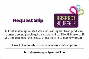 Request Slip - I would like to talk to someone about contraception